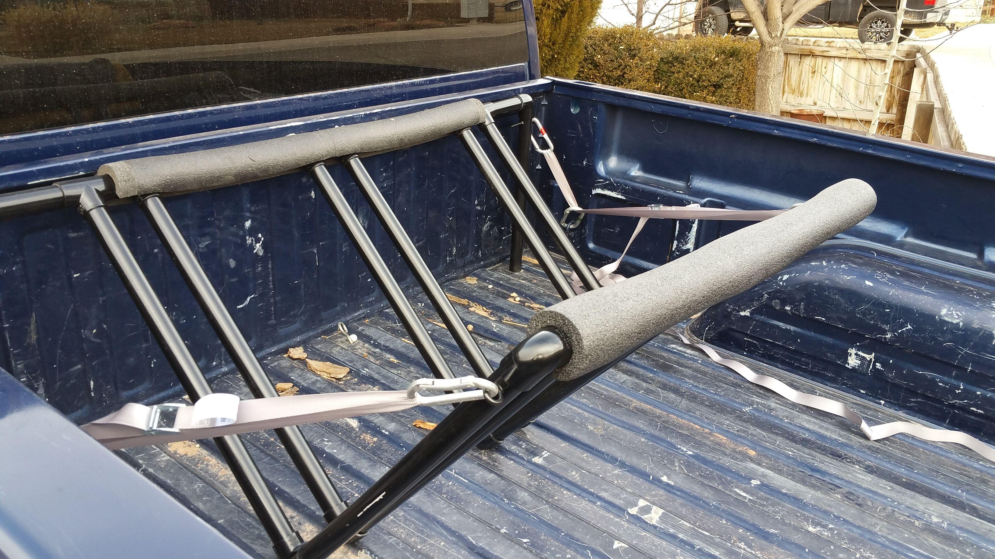 DIY Truck bed PVC bike rack.
