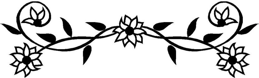 Flower black and white border. Use any of the