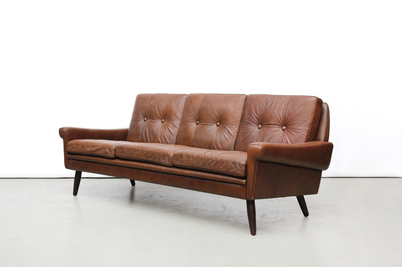 3 Sofas Amsterdam Sofa Small Living Room Philippines Vintage Skippers Møbler Leather Designer Van Ons