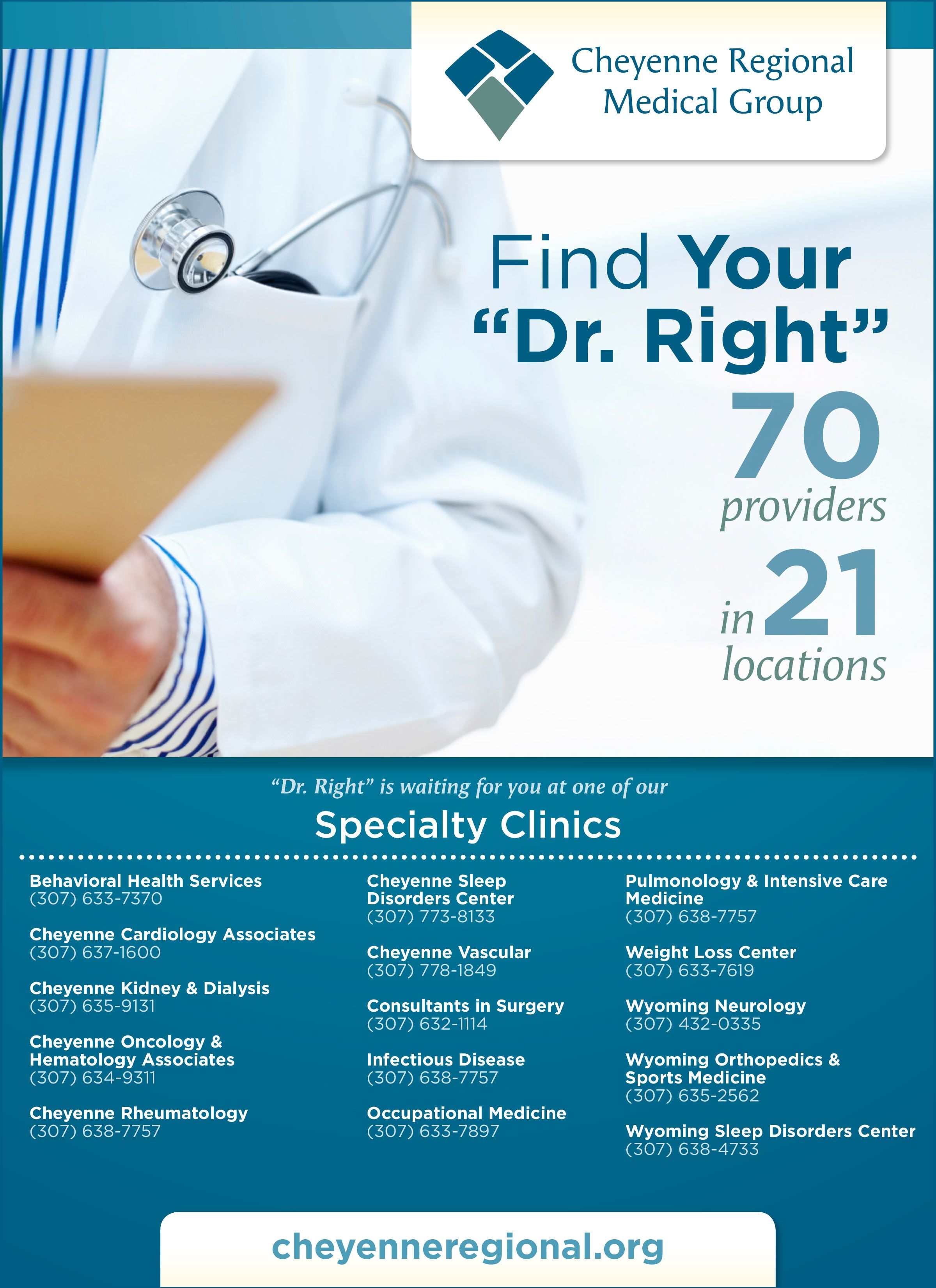 Find your dr right cheyenne regional medical group