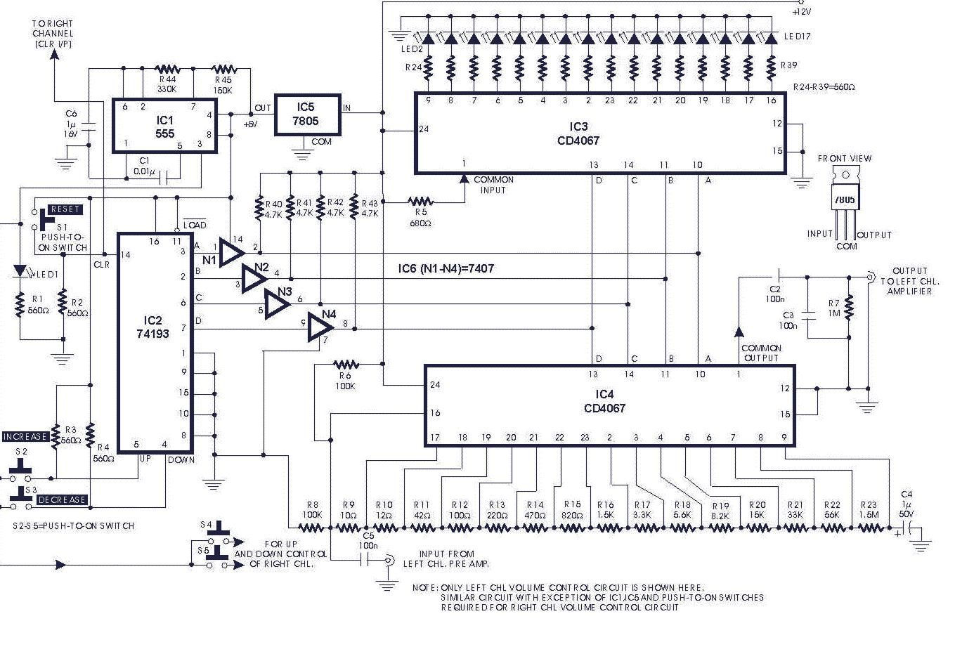 Digital Volume Control Circuit Diagrams Schematics Electronic Working Of Hybrid Cars Circuits And Diagramelectronics Projects