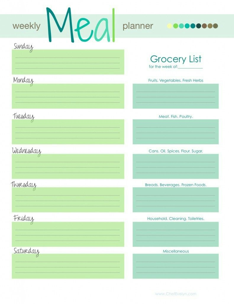 pin by crystal hoskins on free printables pinterest meal planner