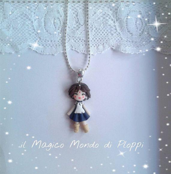 Collana Princess Mononoke fimo polymer clay