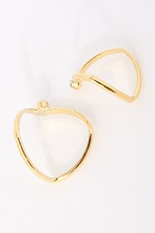 V-Shaped Rhinestone Point Double-Ring