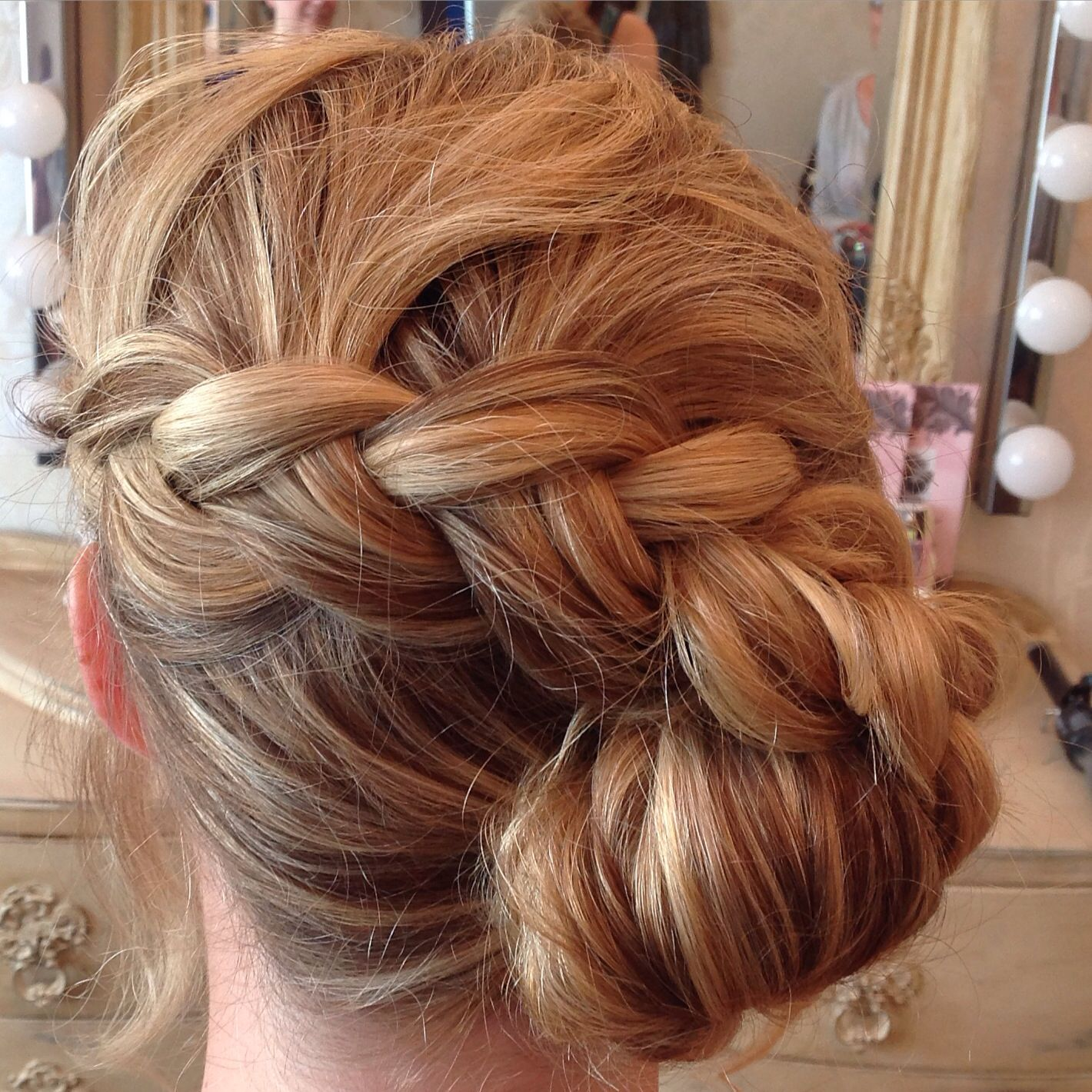 Wedding Hairstyle Roll: Wedding Hairstyle For Bride Or Bridesmaid, Side Bun