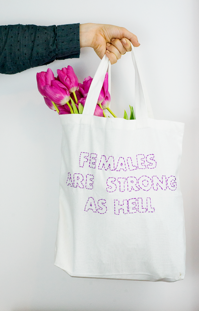 DIY stitched text tote bag | IDEAS 4 PRINT | Pinterest | Bolso ...
