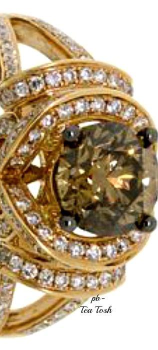 ❇Téa Tosh❇Le Vian, Chocolate Diamond®, Swirling Vanilla Diamonds®, Set in 14k. Honey Gold®