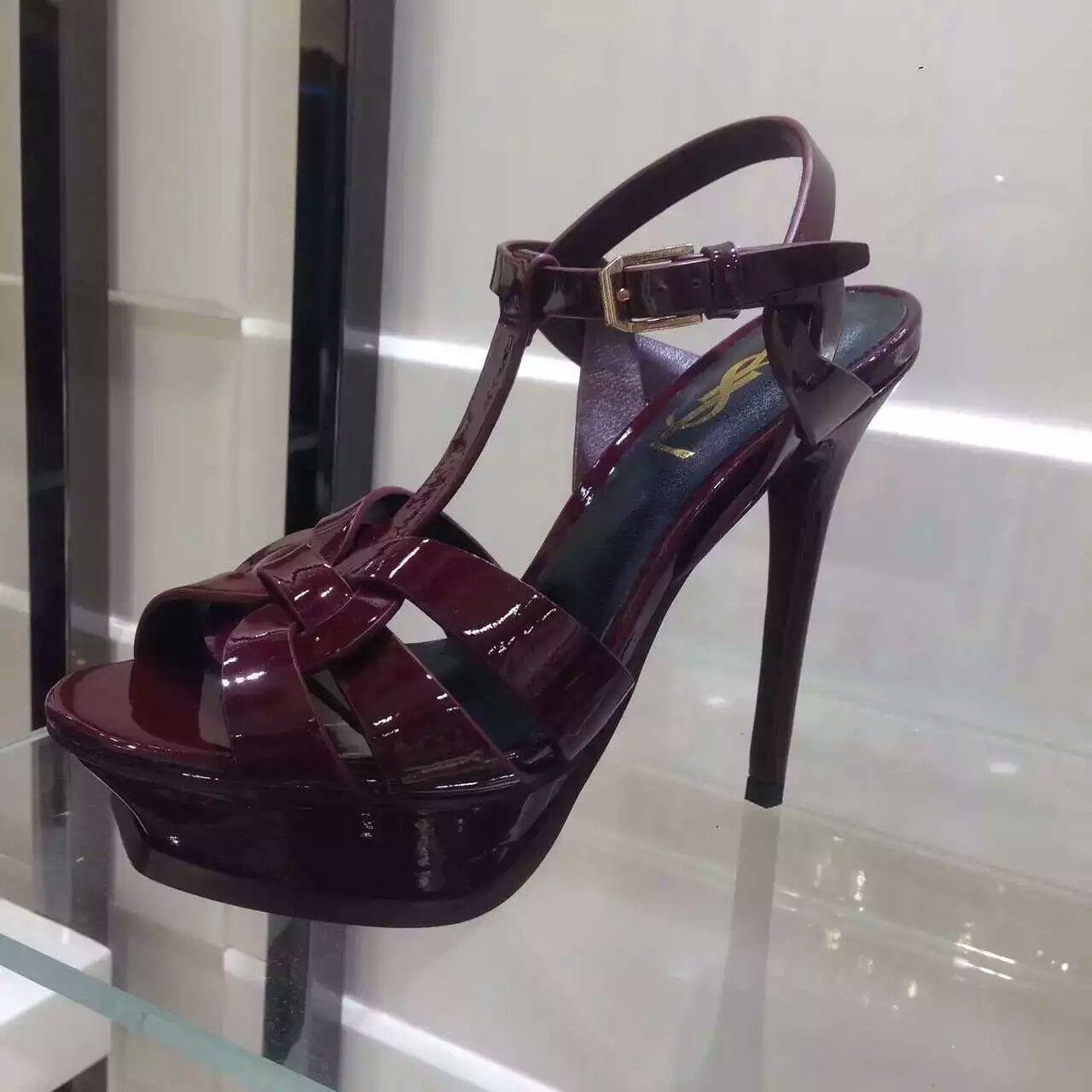 Ysl sandals shoes - 2016 Saint Laurent Shoes Cheap Sale Saint Laurent Jodie 105 Strappy Sandal In Bordeaux Patent