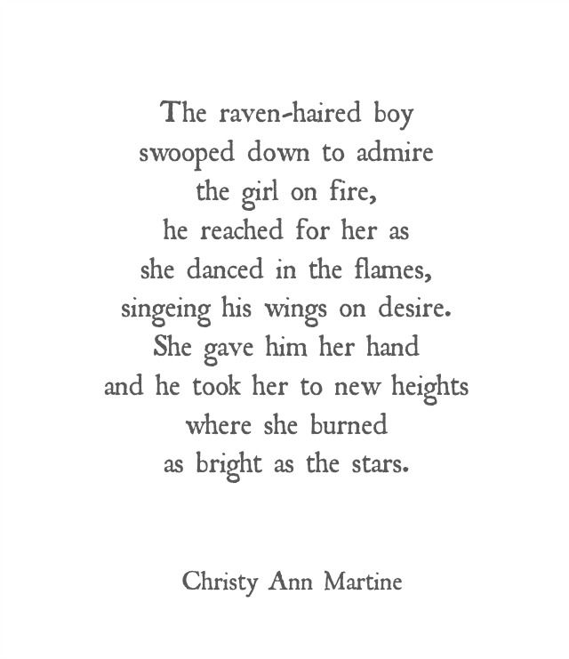 The Girl On Fire Poem by Christy Ann Martine     ramblings ...
