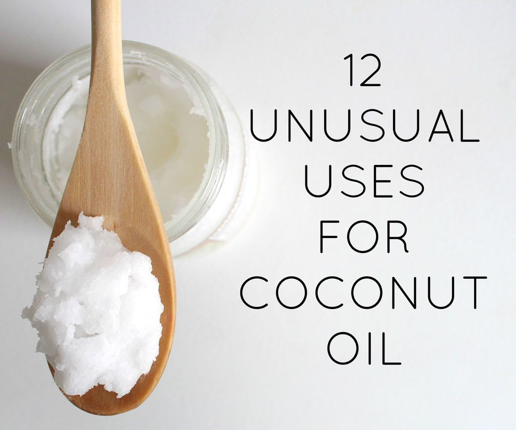 Unusual uses for coconut oil - http://www.instructables.com/id/Unusual-uses-for-coconut-oil/