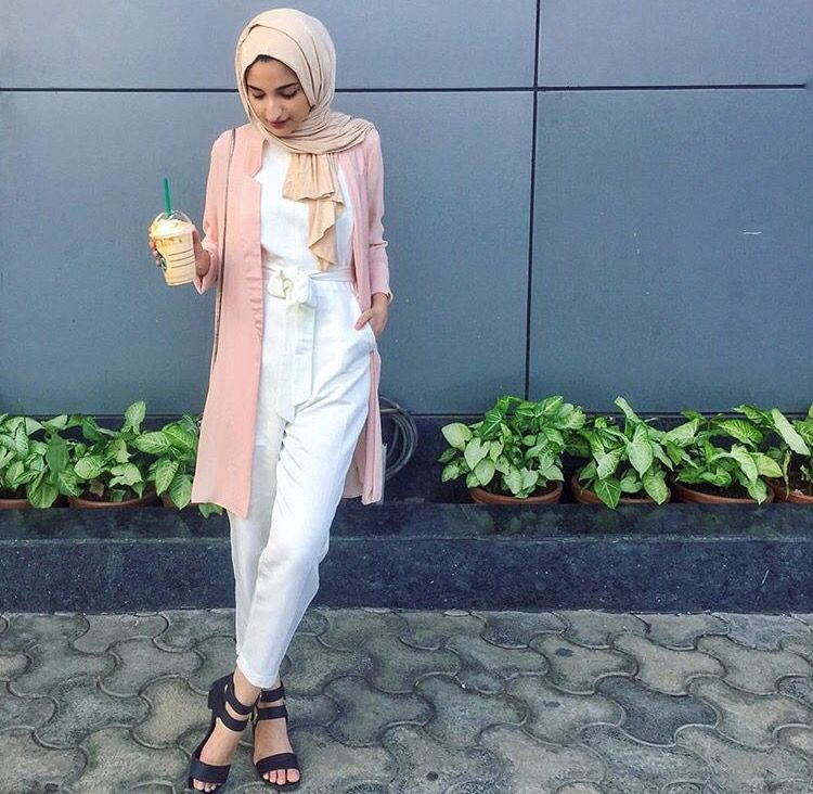 7ef018d8a0ab Hijab + White Jumpsuit ( filterfashion)