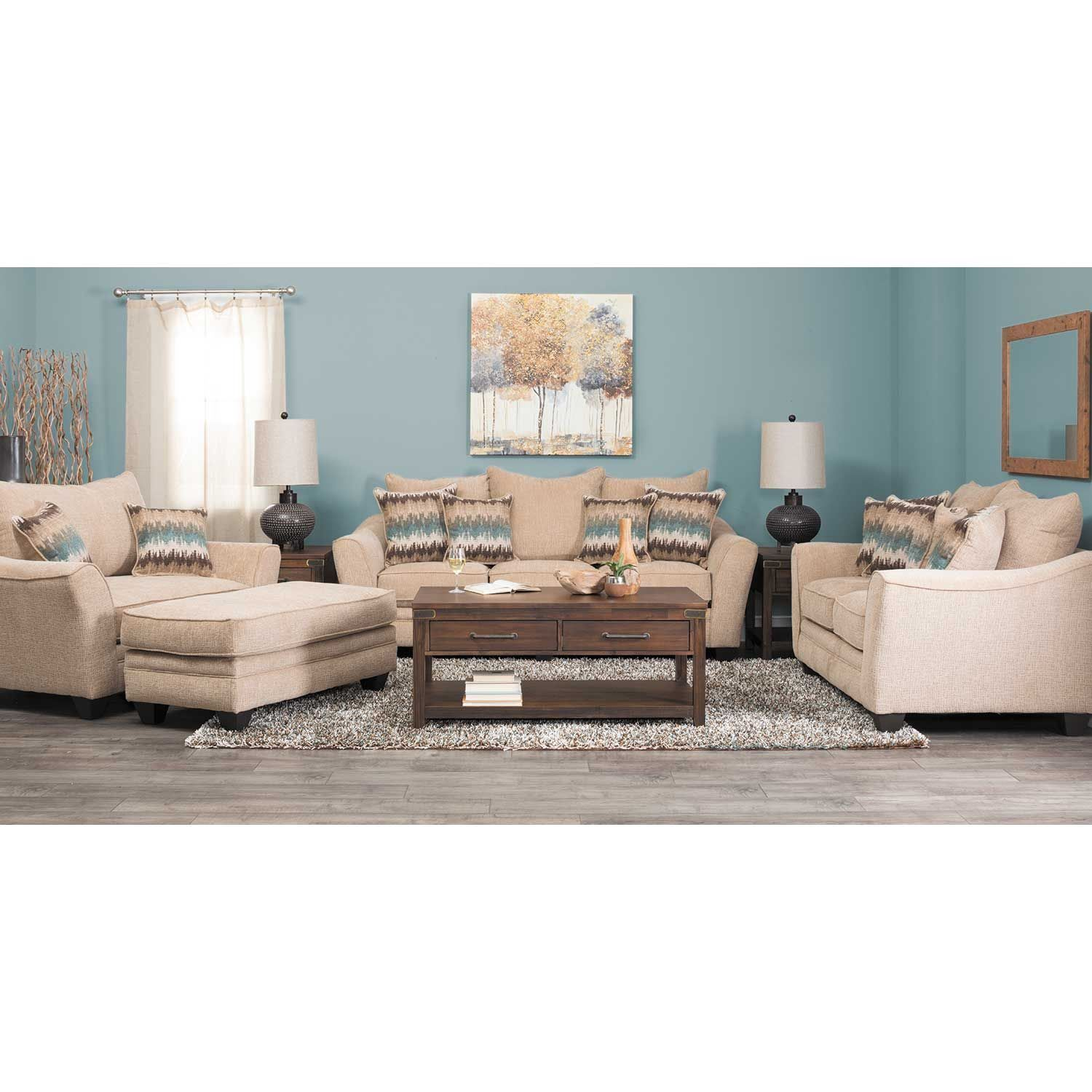 Sectional Sofa Oatmeal Sofa by American Furniture Manufacturing is now available at American Furniture Warehouse
