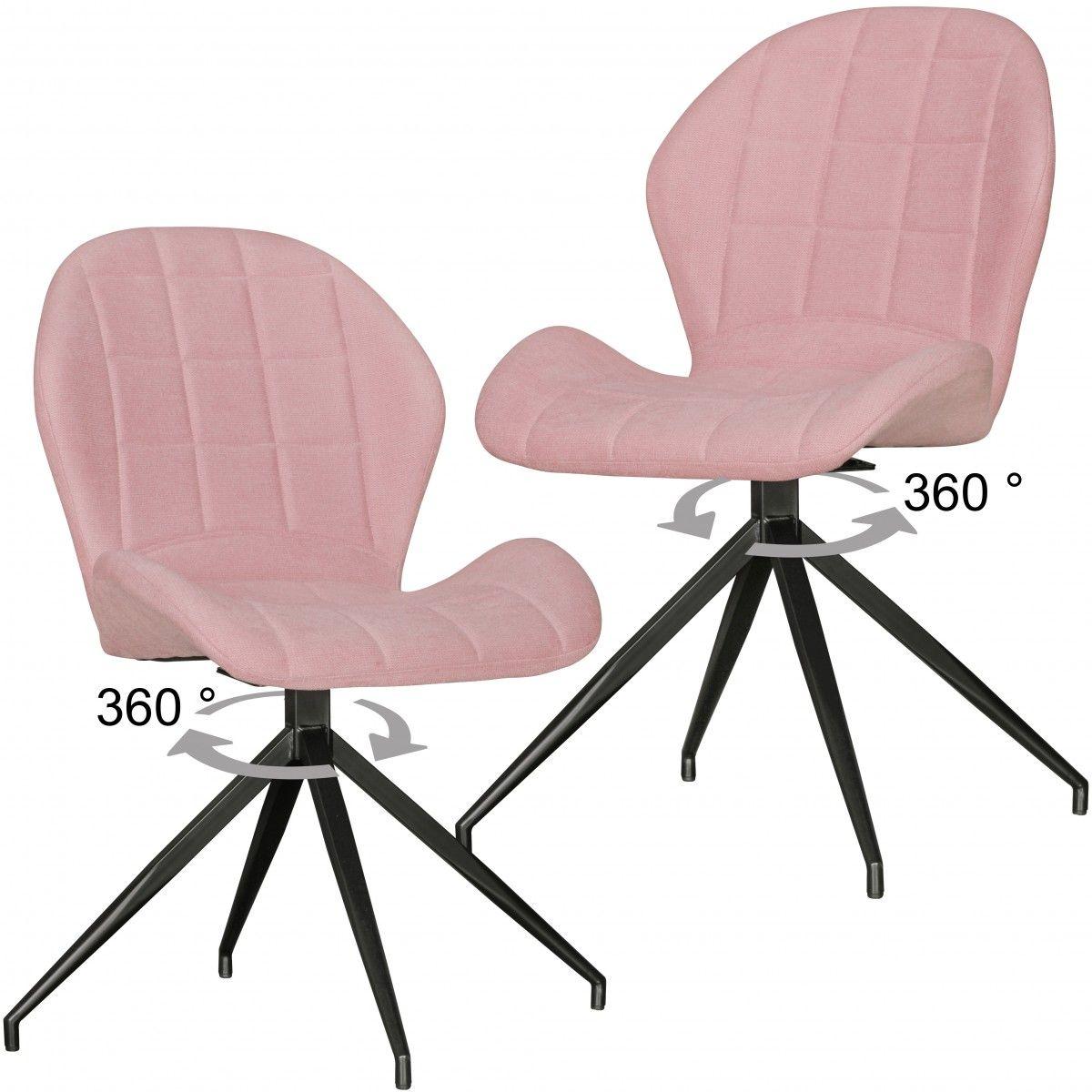 Stühle 2er Set YUKI in Vintage-rot gepolstert   Deckenleuchten im ...