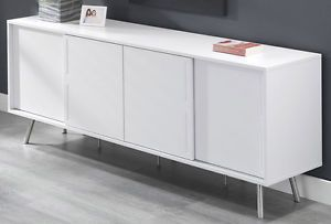 Moderne Sideboards Kommode Schiebeturen Weiss Grau Lack Matt In Mobel