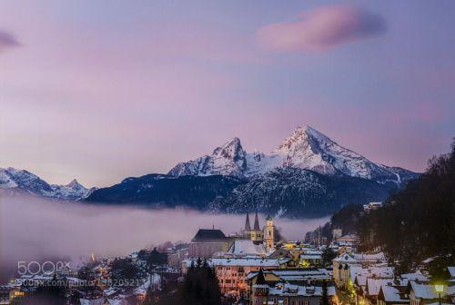 Morning Glory Berchtesgaden and Watzmann by robschueller  Bavarian Alps Berchtesgaden Germany Watzmann robschueller