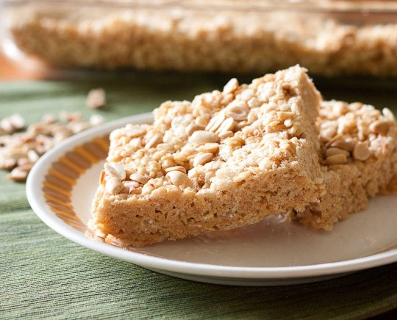 Malted Peanut Butter Rice Crispy Squares | Recipe ...