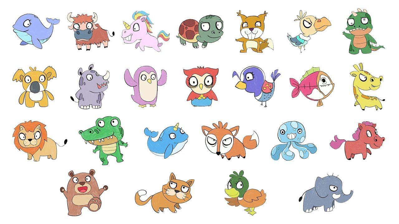 วาดร ปส ตว 26 แบบ Drawing Animals 26 Art Challenge Akecomart สอนวาดร ป ร ปส ตว น าร ก แบบ
