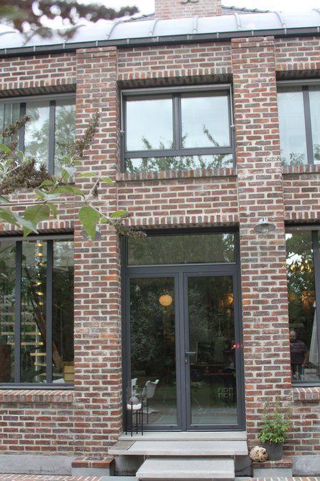 Fa ade brique f netre noir buscar con google ideas for Briquette de facade prix