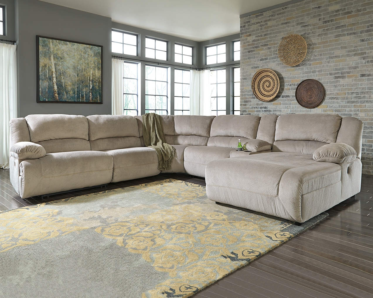 Toletta 6 Piece Reclining Sectional With Chaise Non Power