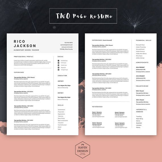 Resume Template For Ms Word Cv Template With Free Cover Letter Professional Cv Design Creative Simple Modern Teacher Resume Onto Resume Template Cv Template Cover Letter For Resume