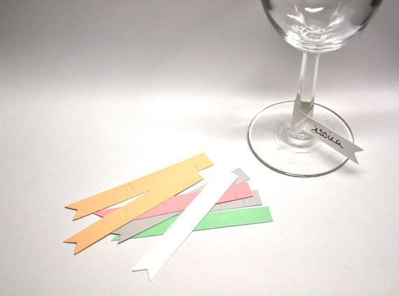 Paper Flag Wine Glass Markers Disposable Name Tags Set Of 25 Diy Wine Glass Wine Glass Markers Wine Glass Tags