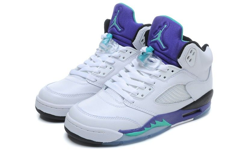 4054349619a perfect air  jordan 5s white grape for hotgirls.