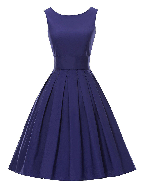 LUOUSE Sommer Damen Ohne Arm Kleid Dress Vintage kleid Junger