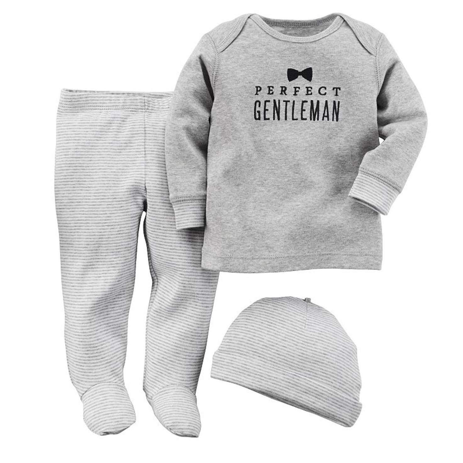 Carter s Perfect Gentleman Top & Footed Pants Set Baby Boy