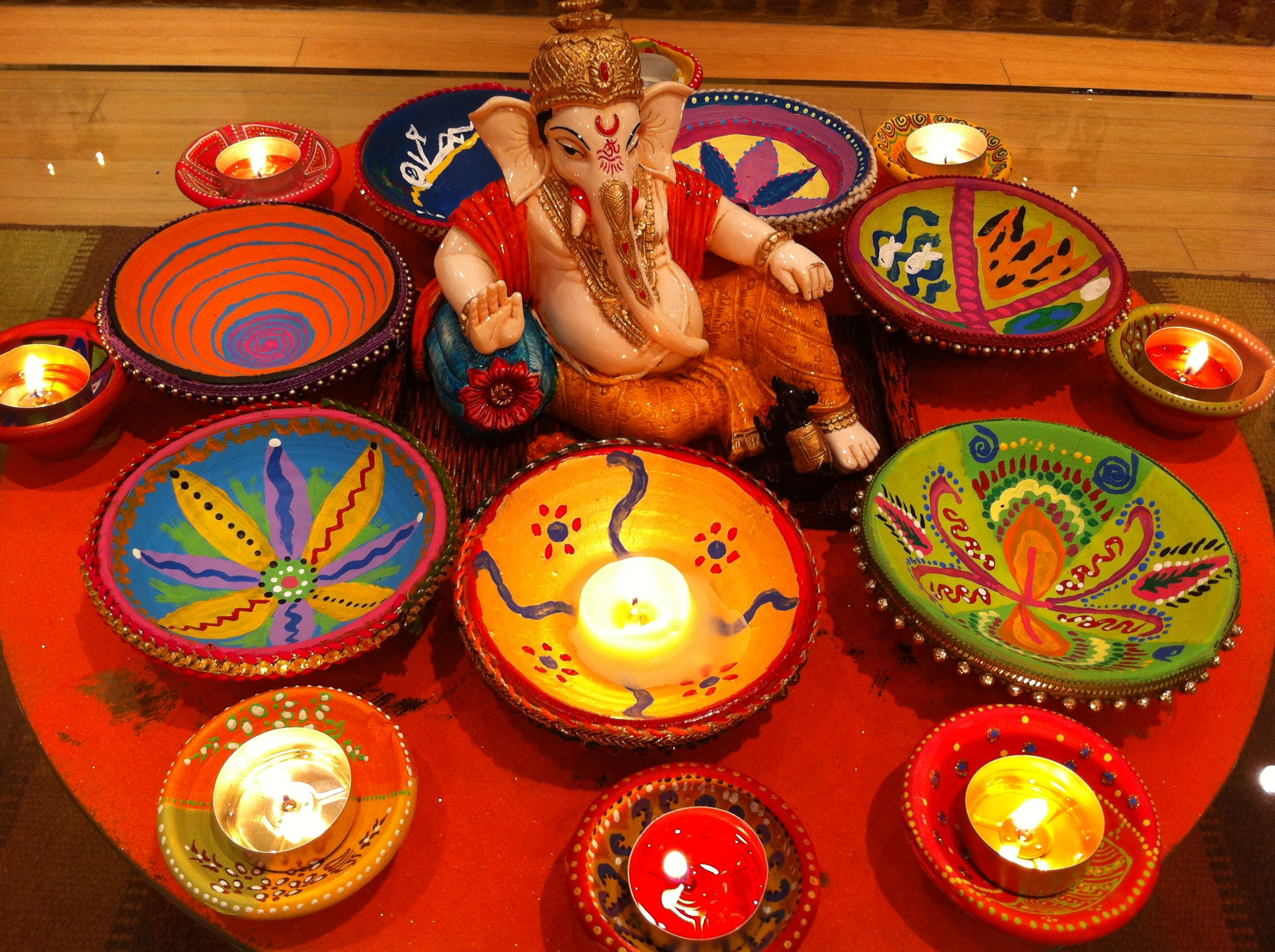 Hand painted diwali diwas home pinterest diwali and craft Home made decoration items for diwali