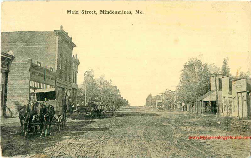 Mindenmines Missouri Main Street Vintage Postcard Photo