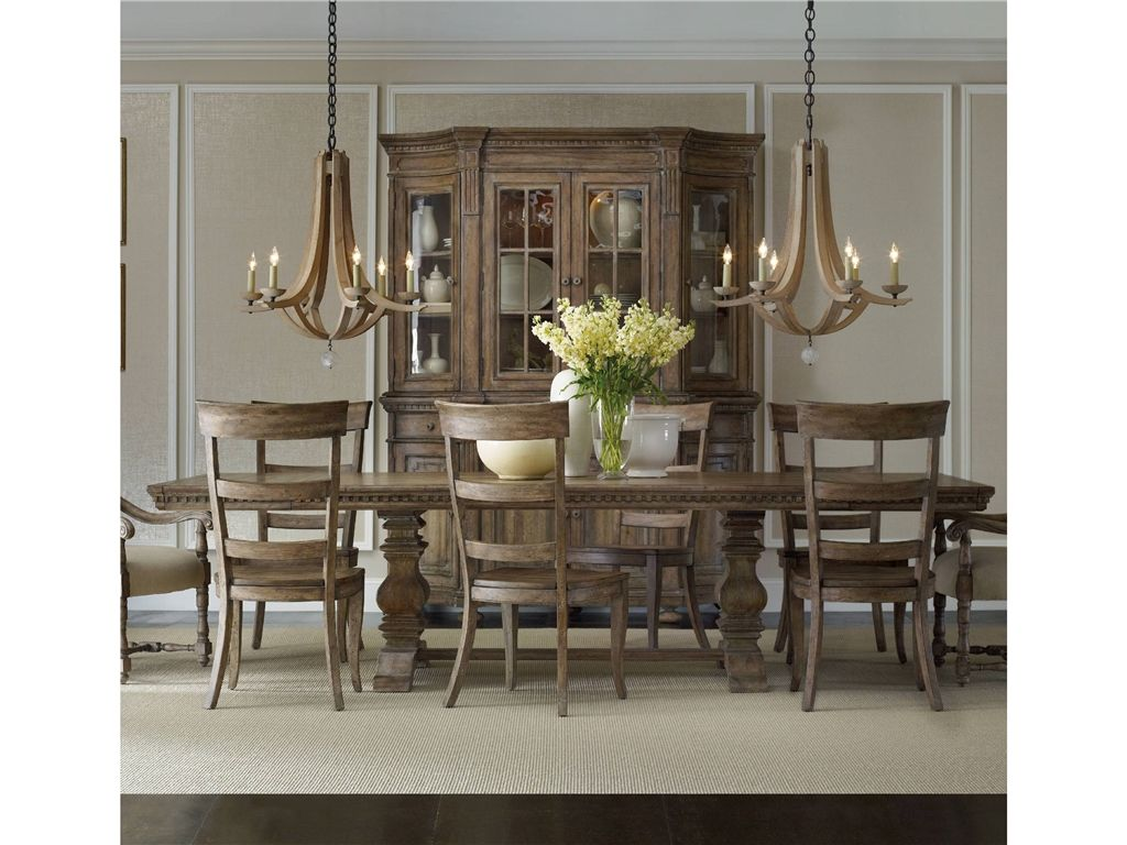 Hooker Furniture Dining Room Sorella Rectangle Table W 2 18 Leaves 5107