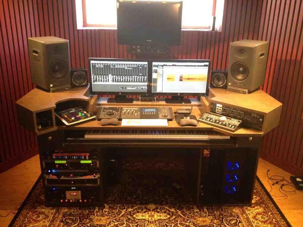 home recording studio desk | audiophile | pinterest