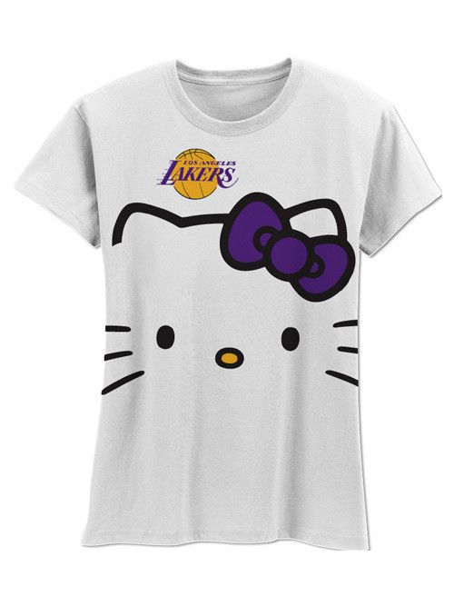 detailed look d5d34 0d5f3 Los Angeles Lakers Hello Kitty Big Head Girls T-Shirt ...