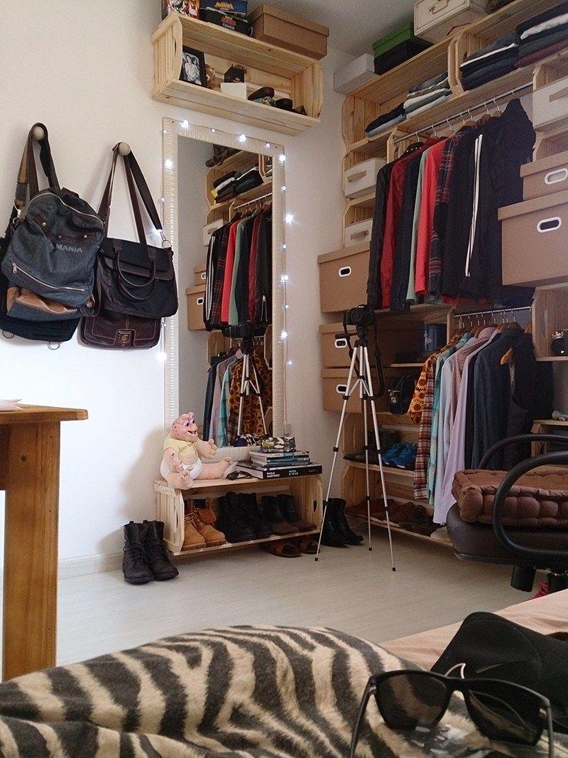 O Quarto De Pallet E Caixotes Do Perek Bons Tempos Quartos  ~ Decoração De Quarto Criativo E Closet No Quarto Pequeno