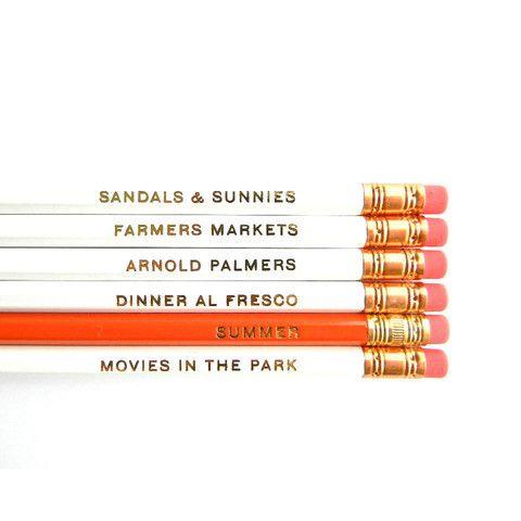 summer love pencils