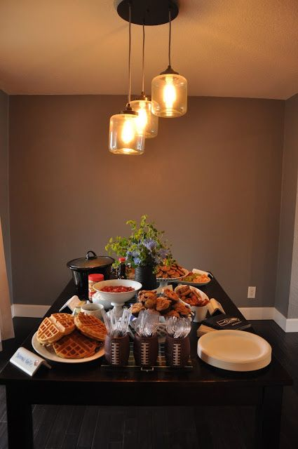 seattle seahawks football game party food table.  easy decorations and food with recipes