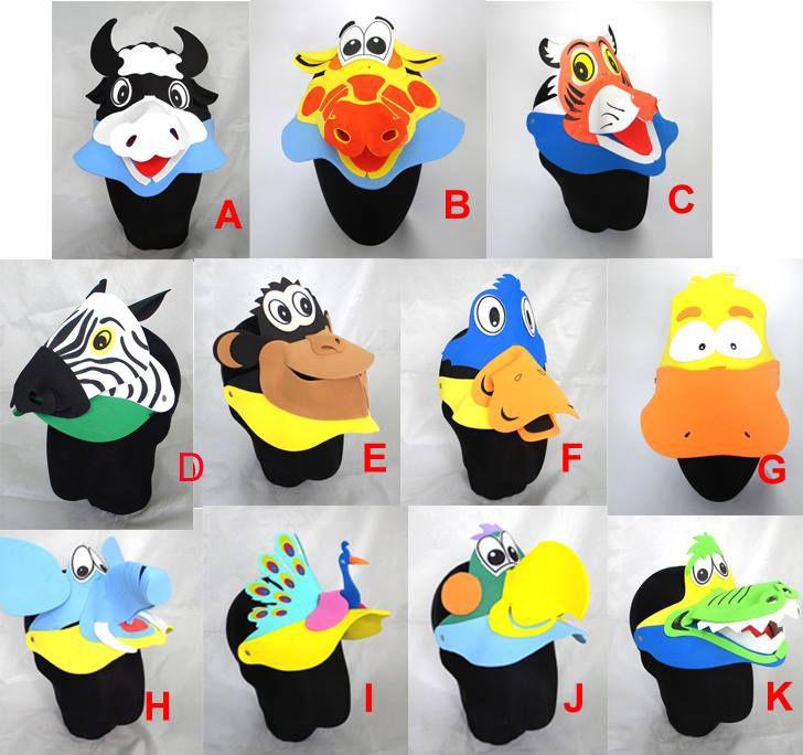 0e41b651 11 X Animal Bird Fish ZOO Kids Foam Fancy Dress Costume School Party Visor  NEW | eBay