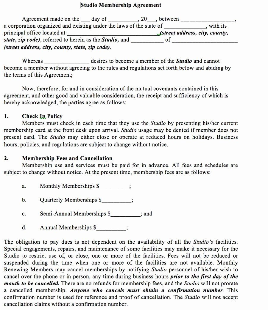 Gym Membership Contract Template Lovely 5 Gym Membership Contract