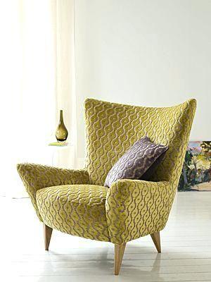ohrensessel modern sessel mit samt stoff unbedingt kaufen pinterest und moderne form