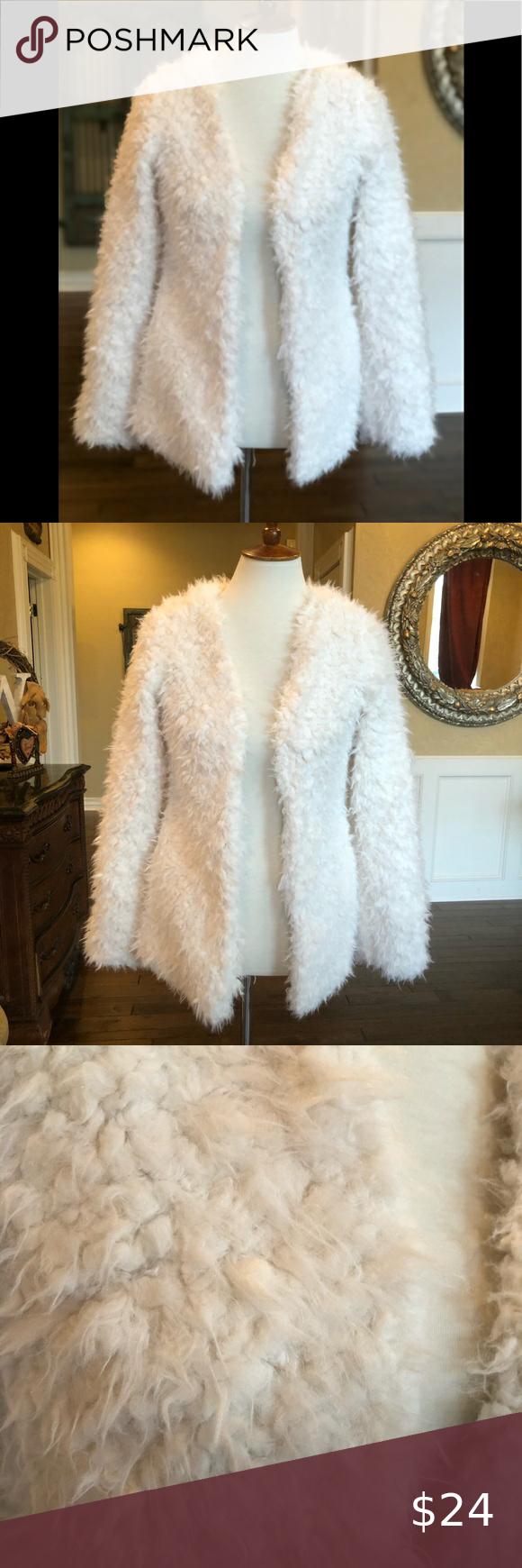 White Fluffy Faux Ambiance Size S Jacket Coat Faux Jacket Coats Jackets Coat [ 1740 x 580 Pixel ]