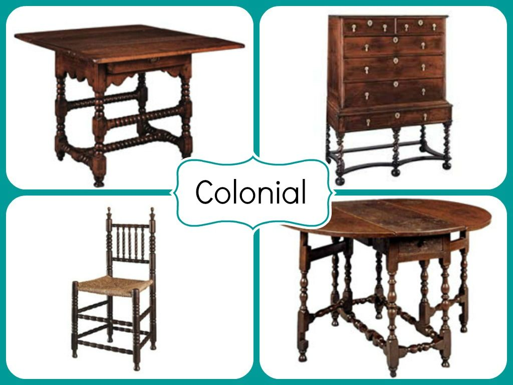 Colonial style furniture characteristics google search