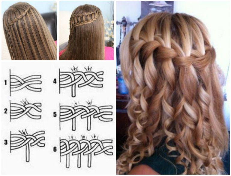 Wonderful Diy Waterfall Braid Hairstyle Wonderfuldiy Com Hair Styles Waterfall Braid Hairstyle Long Hair Styles