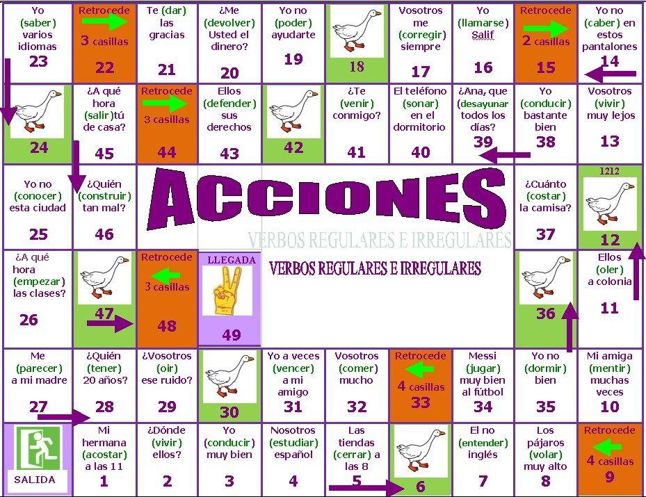 JUEGOS PARA PRACTICAR ESPAÑOL 1 | Spanish, Spanish games and Language