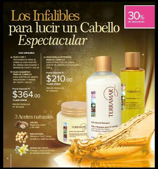 Reparación  total para tu cabello,  Óleo y Shampoo  con tres semillas esenciales para la hidratacion inmediata,  además de la mascarilla regeneradora.