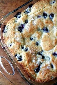 Buttermilk Blueberry Breakfast Cake - Chef in Training