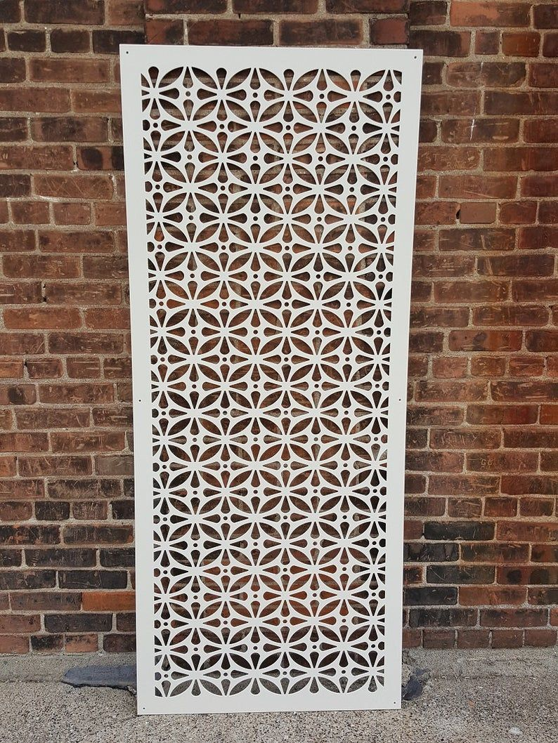 HIDDENFLOWER9 - Metal Privacy Screen Decorative Panel Garden Decor