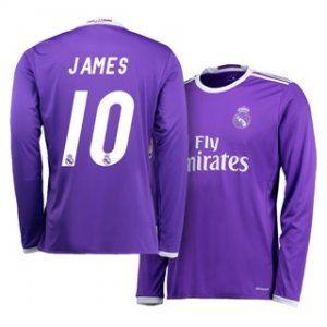 Real Madrid C.F 16-17 Season Away LS Purple #10 Rodriguez Soccer Jersey [H387]