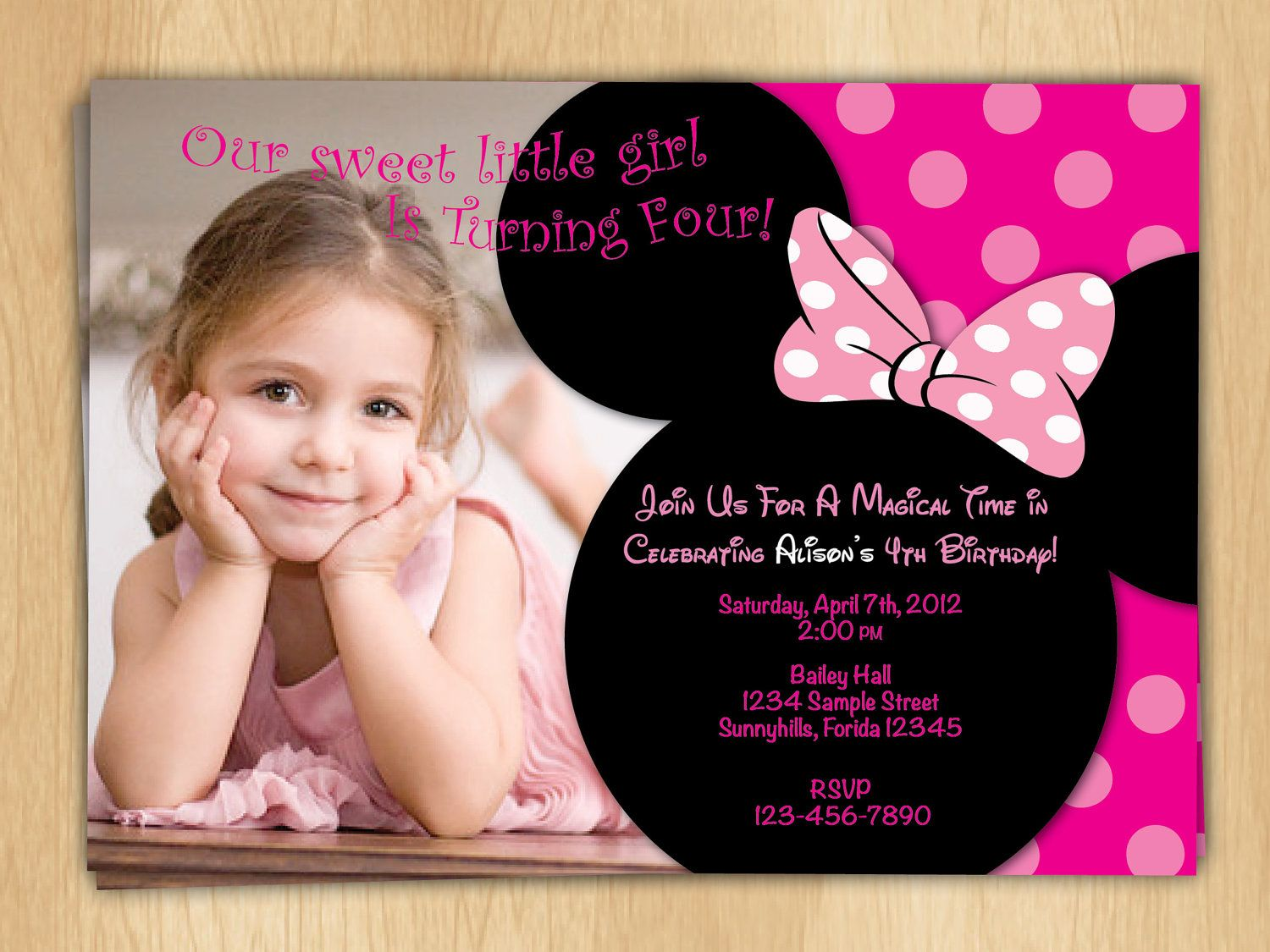 17 Best images about 1 year old birthday – Minnie Invitations for Birthdays