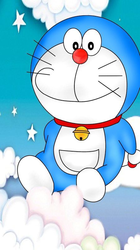 Doraemon in clouds Wallpaper Download