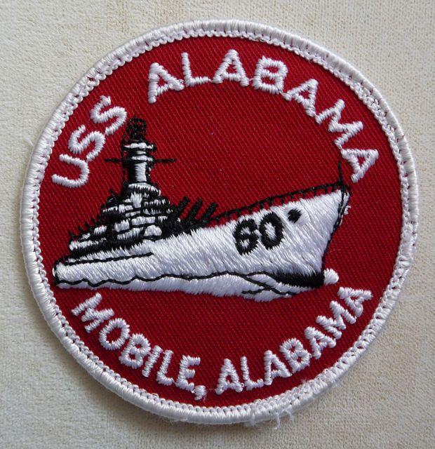 USS Alabama Navy Ship Souvenir Charm Mobile Bay Souvenir Sterling Silver USS Alabama State Souvenir Charm